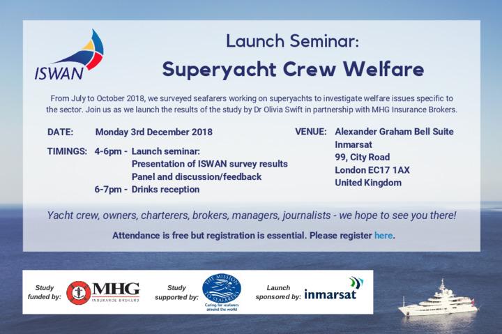 Iswan Invitation To Superyacht Survey Launch