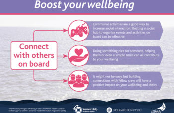 Boost your wellbeing connect with others on board