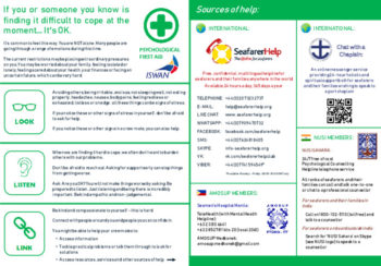 Psychological First Aid poster