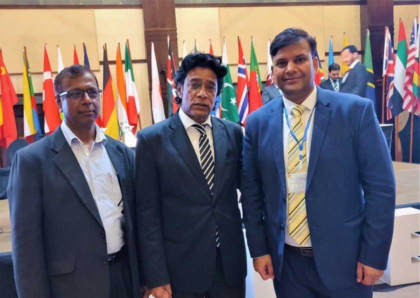CGPCS Mauritius Chirag with Mauritius Minister of Foreign Affairs Chair CGPCS Centre and with Indian Ocean Commission