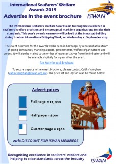 Advertise in the awards brochure