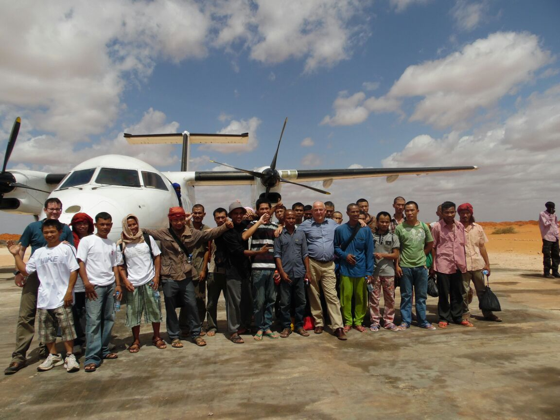 NAHAM 3 CREW ABOUT TO DEPART GALKAYO on UN Flight 23.10.16