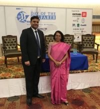 ISWAN's Chirag Bahri with Dr. Malini Shankar of the Directorate General of Shipping