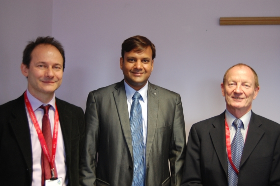 Tom Holmer (L), Chirag Bahri, Andy Winbow (R)