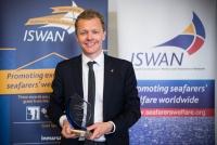 Wallem's Tomas Langgard with the award